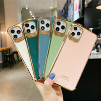 For iPhone 11 Pro Max XS Max XR 8 Plus Luxury Plating Bumper Glossy Case Cover