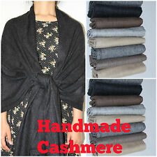100% Cashmere Pashmina Scarf Shawl Wrap Men Ladies Handmade Soft Delicate warm