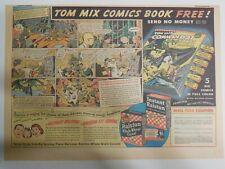 "Ralston Cereal Ad: Tom Mix ""Comic Book #11"" Premium 1943 Size: 11 x 15 inches"