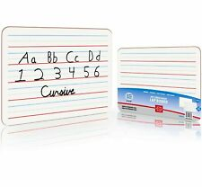 Dry Erase Ruled Lap Boards 9 X12 inch Lined Whiteboard (Double Sided)