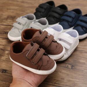 Newborn Baby Boy Oxford Pram Shoes Infant Toddler PreWalker Trainers 3 6 9 12 18