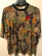 BOGGY CREEK APPAREL Wisconsin Badger Camo Camouflage Hunting Shirt Mens Large