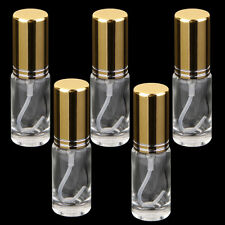 5x Mini Clear Glass Refillable Perfume Empty Bottle Atomizer Spray Vials 5ml