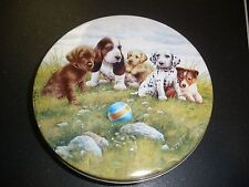 Hawk's Unsalted Peanuts super cute dogs playing ball tin Greg & Co.
