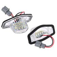 2x  Led License Plate Light Lamp For Honda Crv Fit Jazz Crosstour Odyssey V4R4