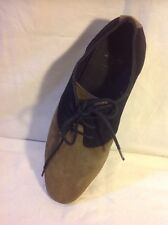 Men's Zara Brown&Black Ankle Suede Boots Size 40