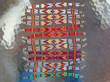 "LOT, 13 Handmade Navajo Indian Beaded "" Lobster Clasp"" Bracelets 7 1/2"" Barber"
