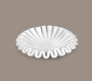 """9"""" Hand Carved Marble Ruffle Bowl, Fruit Bowl, Handcarved White Marble Bowl, Art"""