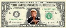Johnny Hallyday 1943 - 2017 Vrai billet souvenir ONE DOLLAR 1$ Collector !