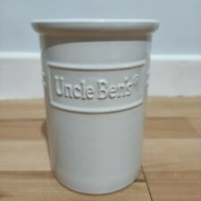 More details for uncle bens rice kitchen utensils jar/vase white ceramic rare ben's advertising