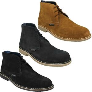 CARNABY III MENS LAMBRETTA LACE UP SUEDE LEATHER WINTER DESERT ANKLE BOOTS SHOES