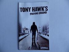Notice seul TONY HAWK'S proving ground Playstation2 livret instruction manuel FR