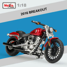 Maisto 1:18 Scale Harley-Davidson 2016 Breakout Red Motorcycle Diecast Model Toy
