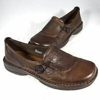GH Bass Bradshaw Slip-Ons Women's 8M Brown Leather Loafers Moccasins Mocs Shoes