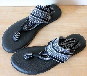 SANUK Yoga Sling 2 Womens Sandals Shoes UK 7 Worn Once Flawless Grey Black