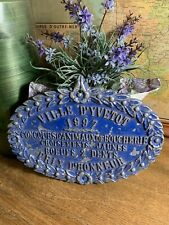 Vintage French Animal Slaughter Plaque Award (1997) (blue)