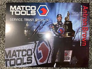 2017 Antron Brown signed Matco Tools Top Fuel NHRA postcard 23