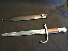 Vtg Military British L1A3 Short Fuller Bayonet Sword Knife Blade With Scabbard
