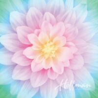 Dream Big~Opal Flower Digital Panel 43'' x 43''  Cotton Fabric by Hoffman