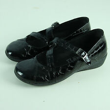 Arcopedico Mary Janes Size 37 6.5 Shoes Black Croc Patent A'rcopedico Wedges