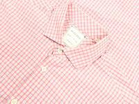 Billy Reid Red White Plaid Standard Cut Cotton Sport Shirt Size Small