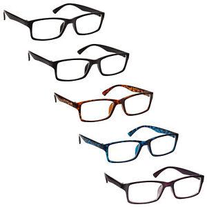 Reading Glasses 5 Packs Mens Womens UV Reader RRRRR92