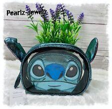 Loungefly Disney Lilo & Stitch Figural Cosmetic Make Up Bag 2 pc Travel Bag -NWT