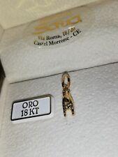 Ciondolo portafortuna corna manina mano in oro giallo 750 18 kt nuovo