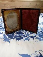 Antique Folding Hinge Picture Frame Gilded Copper Victorian Photo Frame