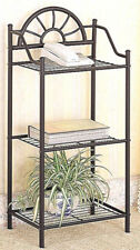 "Sunburst Design Metal Accent Table Plant Stand in Sandy Black 35.5"" H"
