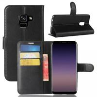 Samsung Galaxy A8 (2018) Coque de protection Housse Pochette Wallet Case Noir