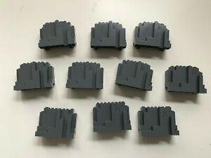 10 x LEGO® 6082 Felsenstein Burg,Felsen,Berg,Klippe,Wall,Rock in Dunkelgrau neu