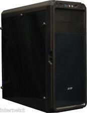 AVP X6 Noir Mid Tower Gaming ATX Boîtier PC avec Full Acrylique avant et panneaux latéraux