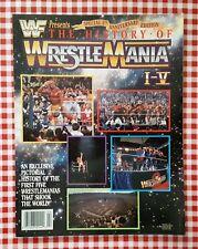 WWF / WWE Magazine : The History of WRESTLEMANIA 1-5  plus promo photo