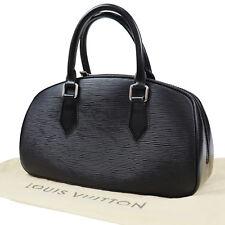 Louis Vuitton Jazmín Bolso de Mano Negro Piel Epi M52782 Vintage Original #Z187