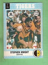 1977 SCANLENS RUGBY LEAGUE CARD   #71 STEPHEN KNIGHT, BALMAIN TIGERS
