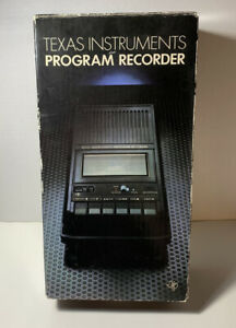 TEXAS INSTRUMENTS PROGRAM RECORDER -1982 - MODEL PHP2700 - WORKS - WITH BOX -EUC