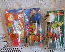FLIX GUMBALL MACHINE LOT POWER RANGERS AND PEBBLES FLINTSTONES