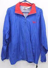 Vintage Reebok windbreaker jacket light weight vented Nylon Mens Sz L Blue Red