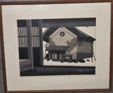 KIYOSHI SAITO Signed 1972 Original Woodblock Print Mid Century Modern