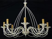 Lampadario 8 luci antico SHABBY CHIC ferro battuto artigianale Italian art.B50