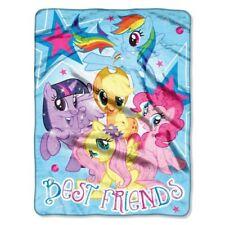 "My Little Pony Best Friends Plush Blanket Throw 46"" x 60"" NEW"