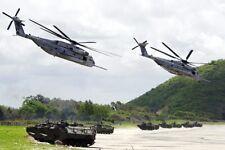 CH-53 / CH-53E SEA STALLION HELICOPTERS 8x12 SILVER HALIDE PHOTO PRINT