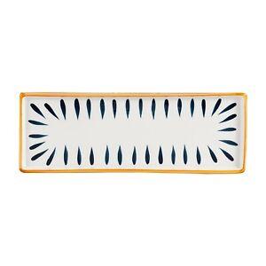 D&F Hand Paint Under Glazed Japanese Style Rectangle Porcelain Serving Dish