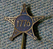 "Antique Revolutionary War Marker 1776 Fcl 6.5""W"