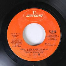 Country 45 Johnny Rodriguez - I Really Don'T Want To Know / That'S The Way Love