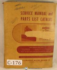 Cincinnati 28 Series, EM Milling Machine, Service and Parts Manual