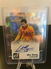 2016 Donruss Soccer Luis Suarez The Beautiful Game Auto FC Barcelona Die Cut /49