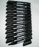 12x  KORES xp1 Permanentmarker schwarz Rundsp. 1,5-3 mm Marker permanent 20930