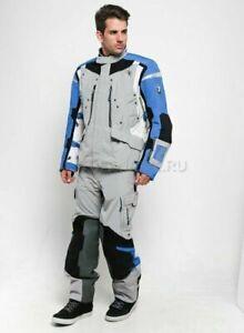 BMW Motorrad Mens Blue Grey Rallye Motorcycle Trousers Pants Size 60 76118395183